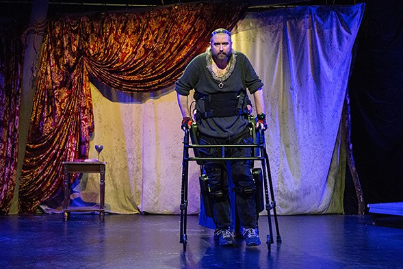 Michael Patrick Thornton, who is paralyzed in both legs, stars in the Gift Theatre's current production of Richard III at Steppenwolf's Garage Theatre. - CLAIRE DEMOS