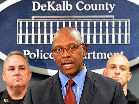 Alexander at a press conference in 2014. His critics say that in his nearly three years in DeKalb he has moved slowly in enacting locally the same reforms he's recommended to other departments nationally. - HYOSUB SHIN/ATLANTA JOURNAL-CONSTITUTION VIA AP