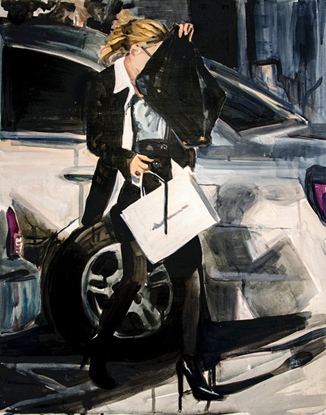 Speaking of expensive handbags . . . An Olsen Twin Hiding Behind a Fendi - COURTESY THE ARTIST