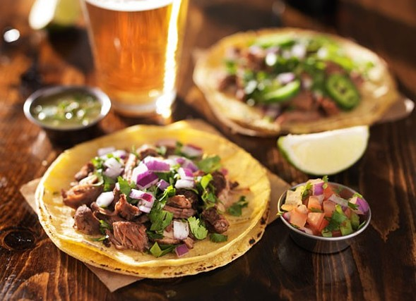 All-you-can-eat tacos on Mon 4/25 at the Lagunitas Tap Room - GETTY