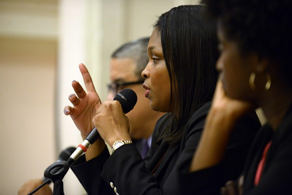 CPS chief education officer Janice Jackson explains LaRaviere's removal. Sort of. - BRIAN JACKSON/FOR THE SUN-TIMES