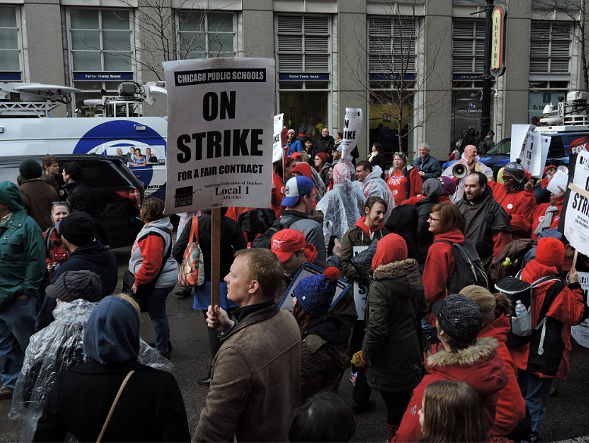 Chicago Teachers Union members rally downtown in April. - BRIAN JACKSON/FOR THE SUN-TIMES
