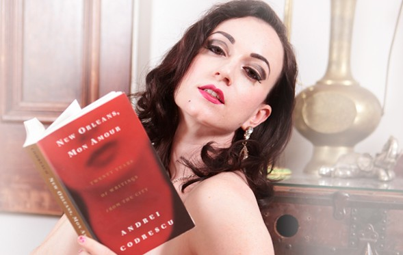 On Friday the 13th, Michelle L'amour and other performers read superstitious stories during a special edition of Naked Girls Reading. - DON SPIRO