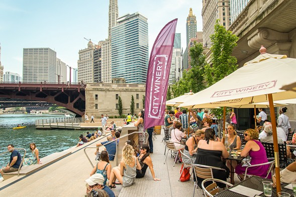 City Winery's pop-up on the Riverwalk - PETER RAVENSTEL
