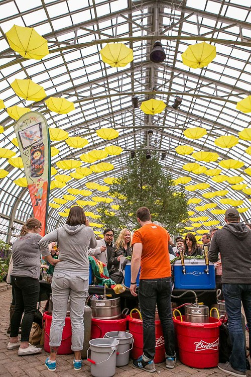 Chicago Craft Beer Week's kick-off event, Beer Under Glass, gives you a chance to sip suds while surrounded by Garfield Park Conservatory flora. - COURTESY CHICAGO CRAFT BEER WEEK