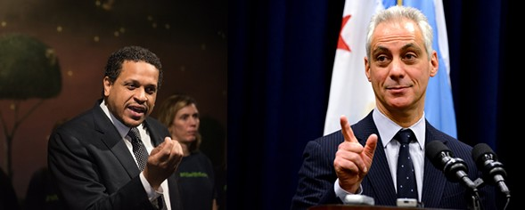 Troy vs. Rahm was really what the Chicago Principal and Administrator's Association president election was all about. - PHOTO ILLUSTRATION BY DANIELLE A. SCRUGGS