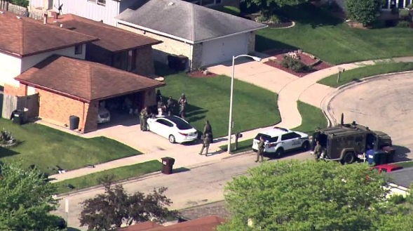 Two FBI agents were shot and a man they were seeking was found dead in a Park Forest home Wednesday, authorities say. - CHICAGO SUN-TIMES MEDIA, COURTESY ABC 7 CHICAGO