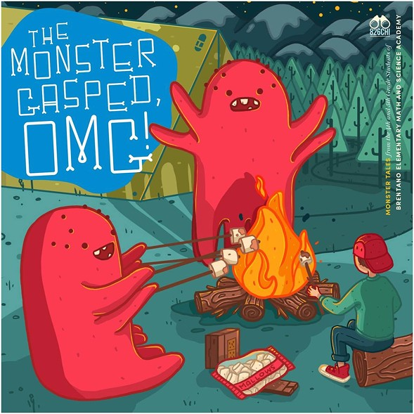 The Monster Gasped, OMG!, cover illustration by Megan Pelto - COURTESY 826CHI