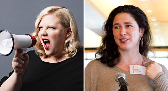 Lindy West and Rebecca Traister - JENNY JIMENEZ; DANA MEILIJSON