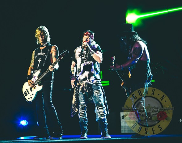 Duff, Axl, and Slash, back together again - COURTESY GUNS N' ROSES