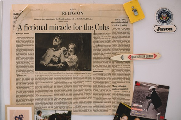 A clipping from a Tribune article about The Cubs and the Kabbalist - STEPHANIE BASSOS