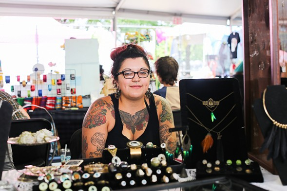 April Montiel, Parajo Negro owner and Best Indie Artist nominee for our 2016 Best of Chicago reader's choice poll - SUNSHINE TUCKER