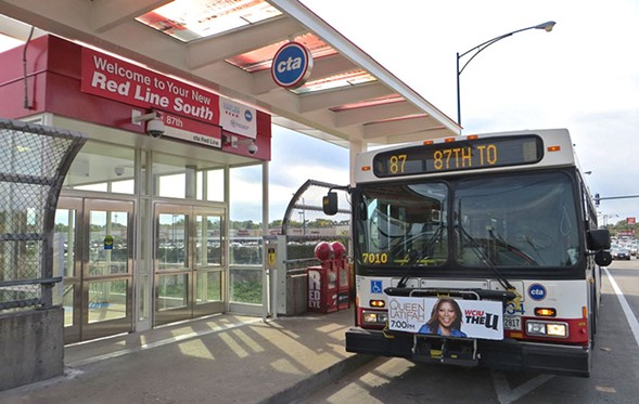 The 87th Street bus is the city's southernmost east-west line. - COURTESY CHICAGO TRANSIT AUTHORITY