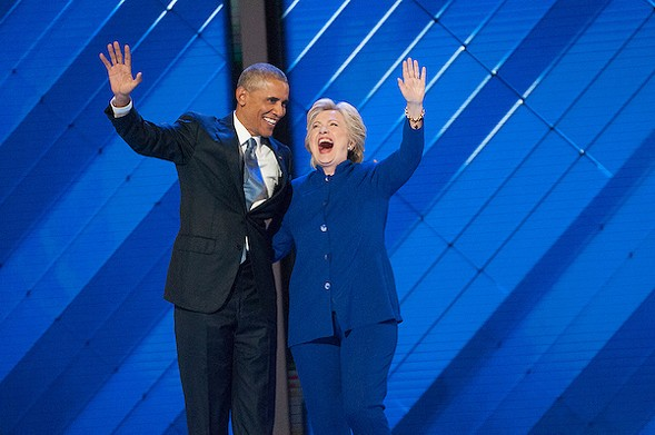 President Barack Obama and Democratic nominee for President Hillary Clinton