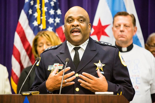 Chicago Police Department superintendent Eddie Johnson - JAMES FOSTER FOR THE SUN-TIMES
