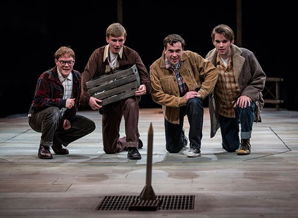 Universal Stage Productions' 2015 performance of October Sky at The Marriott Theatre in Lincolnshire. - LIZ LAUREN