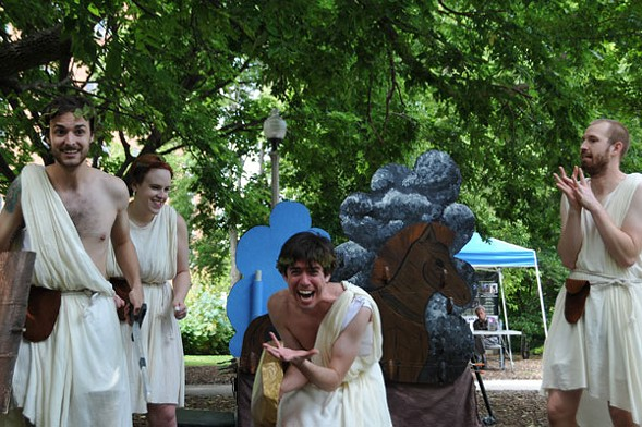 Theatre-Hikes' The Iliad, the Odyssey, and All of Greek Mythology in 99 Minutes or Less - LILIAN HARVEY