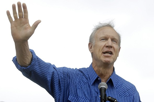 Governor Bruce Rauner at the Illinois State Fair Friday - AP PHOTO/SETH PERLMAN