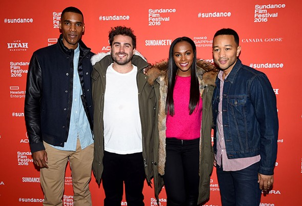 From left to right: Parker Sawyers, Richard Tanne, Tika Sumpter, and  John Legend at the Southside With You premiere during the 2016 Sundance Film Festival - NICHOLAS HUNT/GETTY