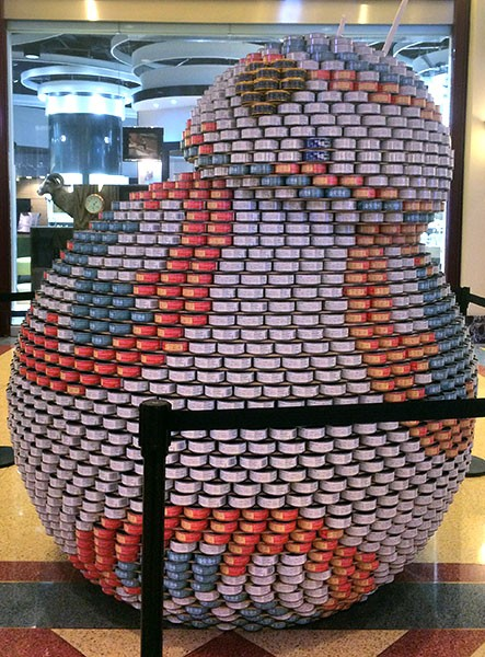 Canned goods become works of art at Canstruction Chicago. - BRENNAN MCDOWELL