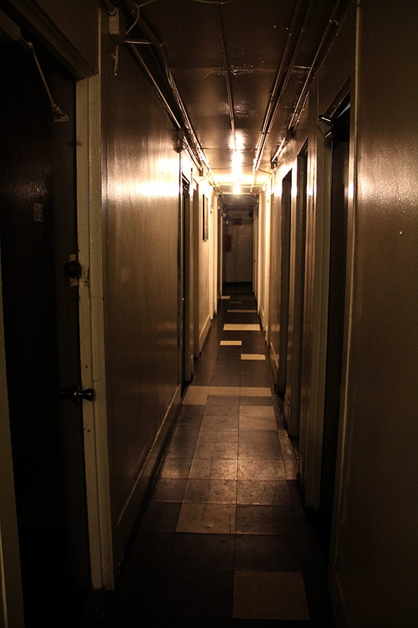 The SRO's narrow first-floor hallway - KARI LYDERSEN