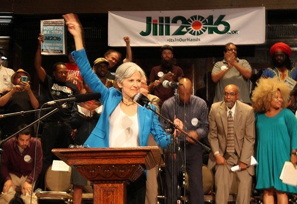 Jill Stein spoke at a Green Party rally in Uptown last Thursday. - DEREK HENKLE