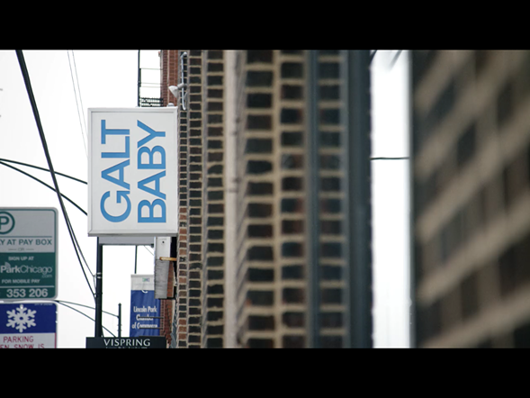 Galt Baby is, appropriately, the setting for a scene of conspicuous yuppie consumption.