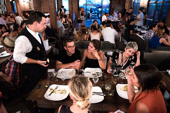 Scene from a Taste Talks dinner that took place earlier this month in Brooklyn, New York - LIZ CLAYMAN