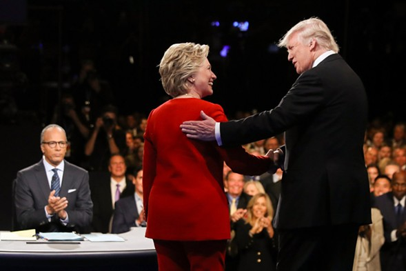 Hillary Clinton and Donald Trump are at it again on Sun 10/9. - AP