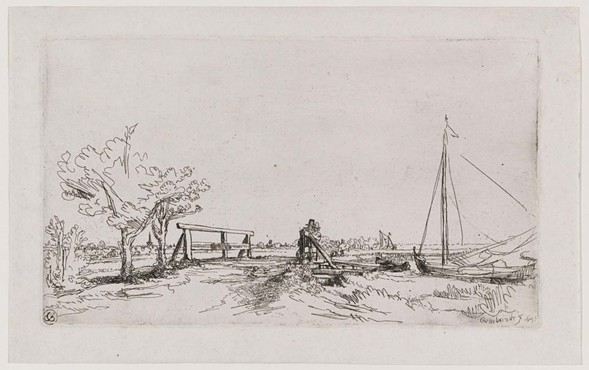 Rembrandt van Rijn, Six's Bridge, 1645 - COURTESY MUSEUM OF FINE ARTS BOSTON