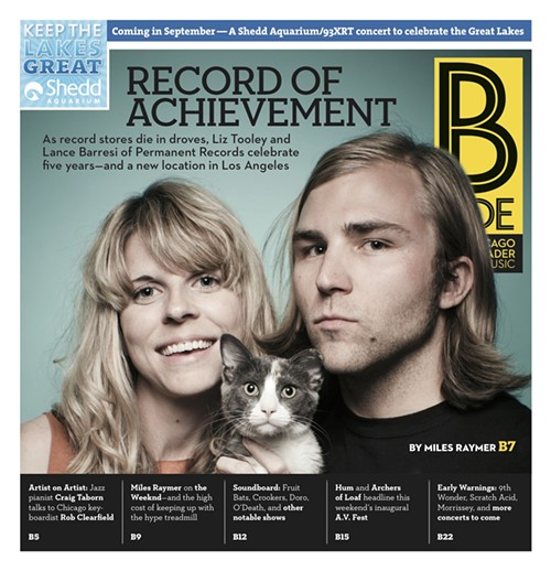 Celebrating Permanent's fifth anniversary on the B Side cover in 2011
