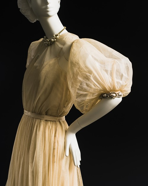 Tulle evening dress with shell trim, fall 1946 - COURTESY CHICAGO HISTORY MUSEUM