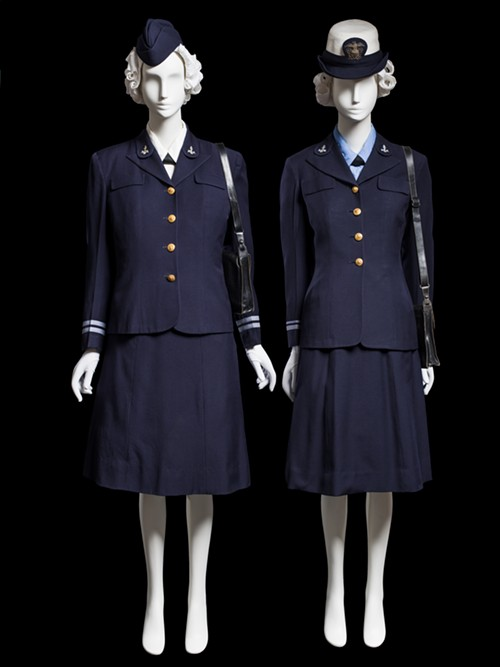 WAVES uniform, United States Naval Reserve, c. 1942 - COURTESY CHICAGO HISTORY MUSEUM