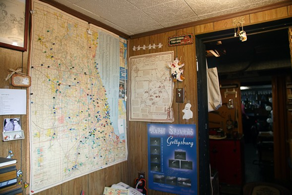 Maps of supposedly haunted locations in the Chicago area - KERRI PANG