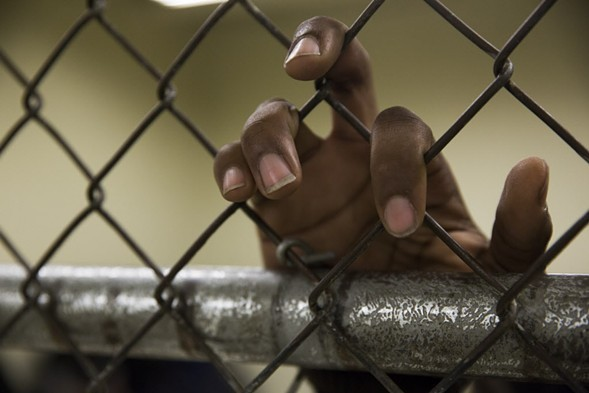 A detainee at Cook County Jail - JESSICA KOSCIELNIAK/SUN-TIMES