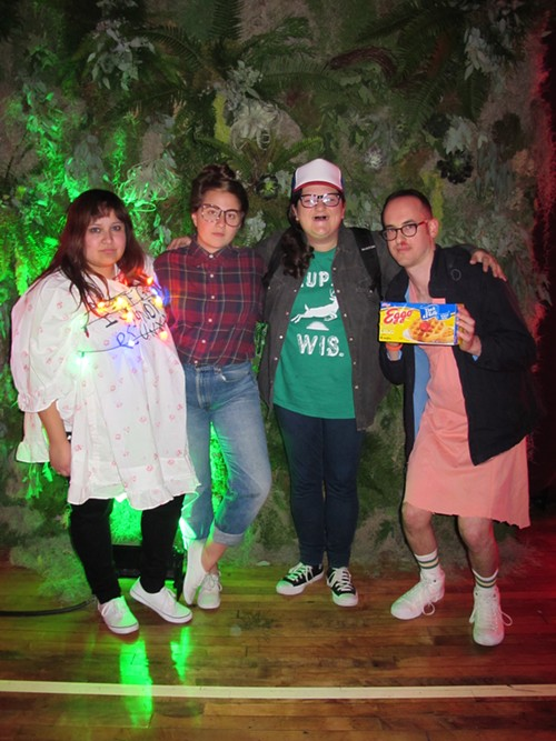 Friends Kristi, Margaret, Amanda and Adam impersonated characters—and even a setting—from the Netflix series Stranger Things. - ISA GIALLORENZO
