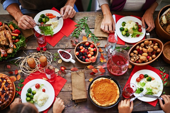 Enjoy a Thanksgiving feast at Reader-recommended restaurants around the city. - GETTY IMAGES