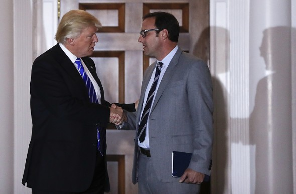 President-elect Donald Trump and Todd Ricketts, his nominee for deputy secretary of the Department of Commerce - AP PHOTO/CAROLYN KASTER