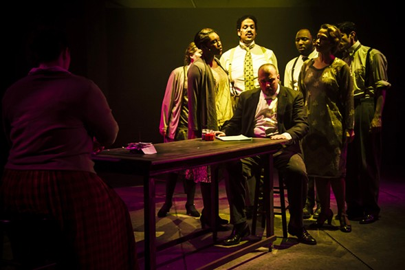 From the Hypocrites' production of Adding Machine, which ran this past spring - MATTHEW GREGORY HOLLIS
