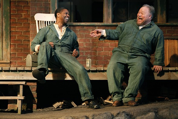 Washington and Henderson in Fences on Broadway