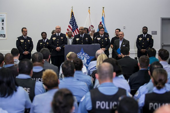 Chicago Police Department superintendent Eddie Johnson announced in September that the department would be hiring 970 new police officers over the next two years. - ASHLEE REZIN/FOR THE SUN-TIMES