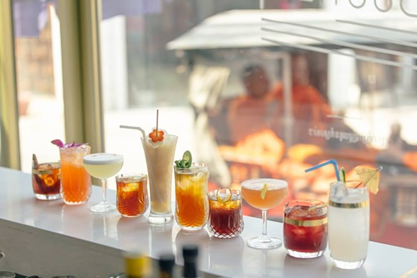 The full lineup of Le Boutier cocktails - JUDE GOERGEN