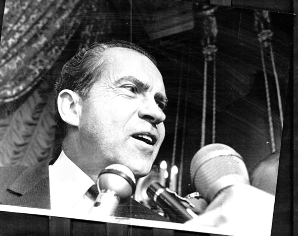 Richard Nixon on the presidential campaign trail in 1968 - SUN-TIMES MEDIA ARCHIVE
