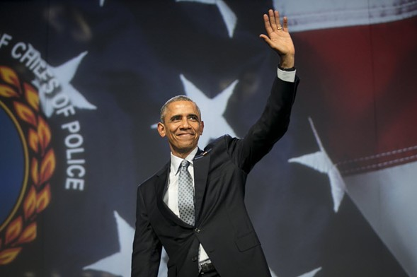 President Barack Obama addresses the International Association of Chiefs of Police at McCormick Place in 2015. - ASHLEE REZIN/FOR THE SUN-TIMES
