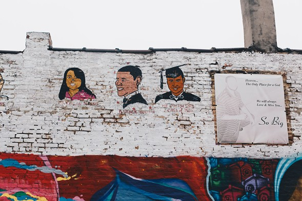 Another painting of Obama at 47th and Saint Lawrence, also in Bronzeville