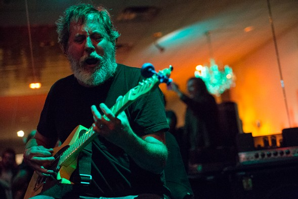 Bill Orcutt duets with violinist Austin Wulliman on Friday. - COURTESY CONSTELLATION