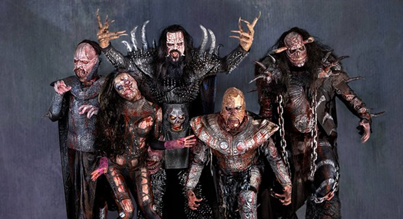 Horror metal group Lordi makes a rare appearance in the U.S. on Tue 2/14. - COURTESY THE ARTIST