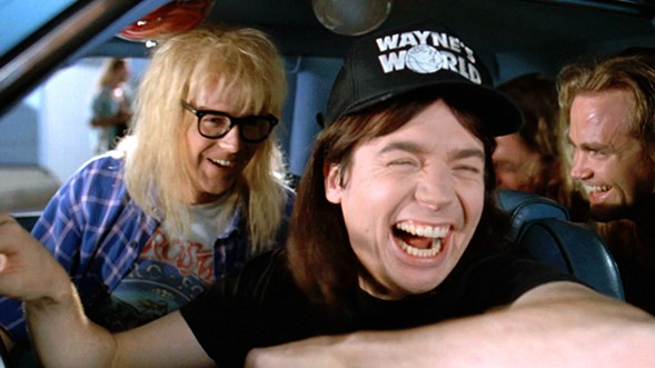 Wayne and Garth come to life during a live reading of Wayne's World on Mon 2/27. Excellent!