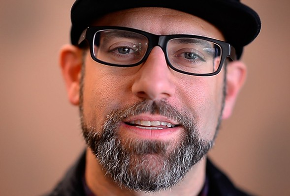 Kevin Coval launches his new book, A People's History of Chicago, on Sat 3/4. - SUN-TIMES MEDIA/BRIAN O'MAHONEY