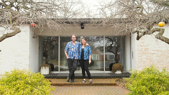 Midcentury-modern furniture collectors David and Amy Carter, of Munster, Indiana, are also passionate about all things tiki. - KERRI PANG